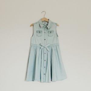 DKNY Girl's Size 7 Denim Dress